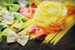 Uncooked pasta Stock Photos