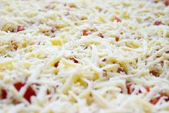 Uncooked pizza Royalty Free Stock Images