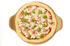 Uncooked pizza Zdjęcia Stock