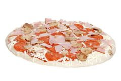 Uncooked pizza Royalty Free Stock Image