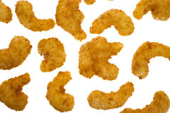 Uncooked popcorn shrimp Stock Photography