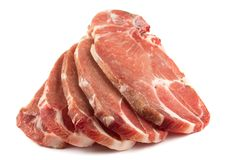 Uncooked pork chops Royalty Free Stock Photos