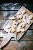 Uncooked potato gnocchi Royalty Free Stock Images