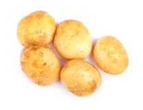 Free Uncooked Potatoes Isolated On A White Background. Peeled Potato Tubers. Organic Vegetables. Autumn Ingredients For Homemade Meals. Stock Image - 96508451