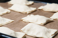 Uncooked puff pastry Stock Image