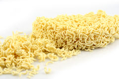 Uncooked Ramen. Isolated on a White Background Royalty Free Stock Image