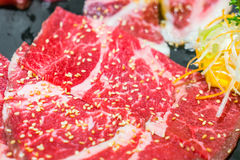 Uncooked raw fresh beef . Royalty Free Stock Photography