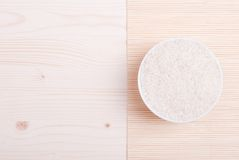 Uncooked rice on board diet food. Uncooked rice  board diet food Stock Photography