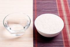 Uncooked rice on board diet food. Uncooked rice  board diet food Royalty Free Stock Image