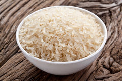 Uncooked rice in a bowl Stock Photos