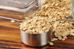 Uncooked rolled oats Royalty Free Stock Photos