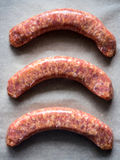 Uncooked sausages Stock Photography