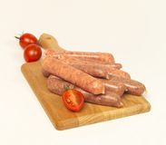 Uncooked sausages Royalty Free Stock Photography