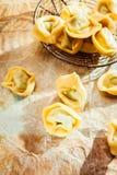 Uncooked savory Italian tortellini pasta Stock Photo