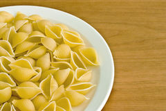Uncooked pasta shells Royalty Free Stock Photo