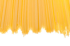 Uncooked spaghetti Stock Photography