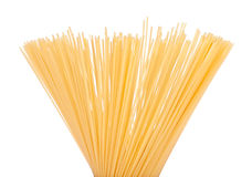 Uncooked spaghetti Stock Photos