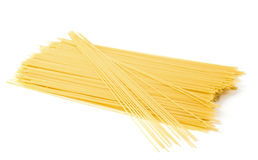 Uncooked Spaghetti. Close-up on a white background Royalty Free Stock Photography
