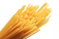 Uncooked spaghetti Stock Image