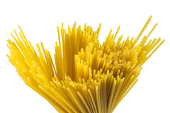 Uncooked spaghetti. Bunch of uncooked spaghetti pasta Royalty Free Stock Photo