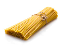 Uncooked spaghetti closeup Stock Photography