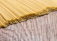 Uncooked spaghetti closeup Royalty Free Stock Photo