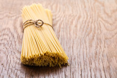 Uncooked spaghetti closeup Royalty Free Stock Image