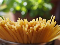 Uncooked  spaghetti Stock Photos