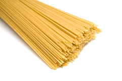 Uncooked spaghetti noodles Stock Images