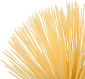 Uncooked spaghetti (pasta). Isolated on white background Royalty Free Stock Images
