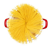 Uncooked spaghetti pasta isolated Stock Photo