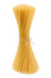 Uncooked spaghetti royalty free stock images