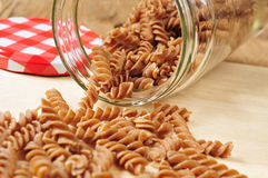 Uncooked spelt fusilli Royalty Free Stock Image