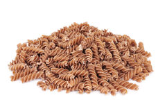 Uncooked spelt fusilli Stock Photography