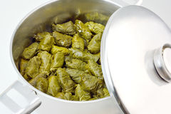 Stuffed grape leaves with rice Stock Photo