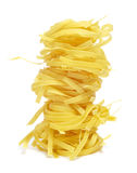 Uncooked tagliatelle Stock Photography