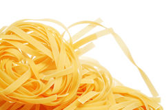 Uncooked tagliatelle Stock Images