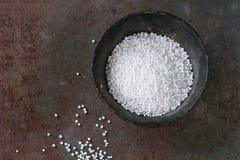 Uncooked tapioca pearls Stock Image
