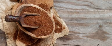Uncooked teff grain in a bowl Royalty Free Stock Photo