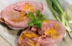 Uncooked turkey meat Royalty Free Stock Photos