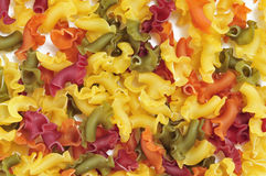 Uncooked vegetables gigli pasta Royalty Free Stock Photo
