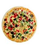 uncooked vegetarian för pizza royaltyfri bild