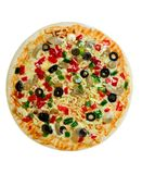 Uncooked Vegetarian Pizza Royalty Free Stock Image