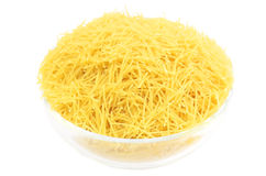 Uncooked vermicelli in a plate Royalty Free Stock Photography