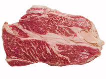Uncooked wagyu beef steak isolated Royalty Free Stock Photography