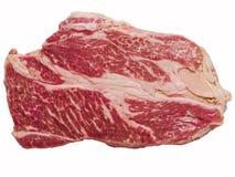 Uncooked wagyu beef steak isolated Royalty Free Stock Photography