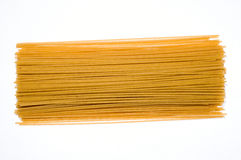 Uncooked whole wheat pasta Royalty Free Stock Images