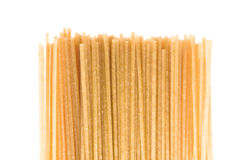 Uncooked whole wheat pasta Royalty Free Stock Photo