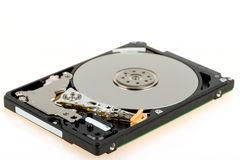 Uncovered 2,5 inch notebook hard drive Stock Photo