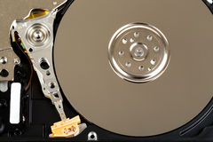 Uncovered 2,5 inch notebook hard drive Royalty Free Stock Photography